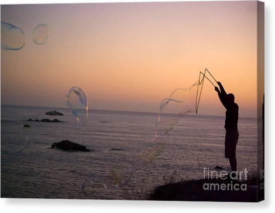 Bubbles On The Beach Canvas Print