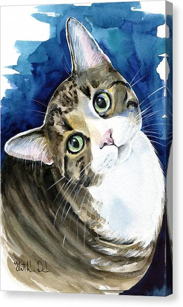 Bubbles - Tabby Cat Painting Canvas Print