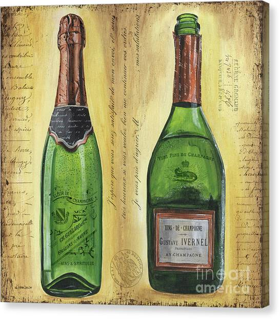 Flutes Canvas Print - Bubbly Champagne 1 by Debbie DeWitt