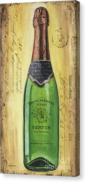 Bar Canvas Print - Bubbly Champagne 2 by Debbie DeWitt