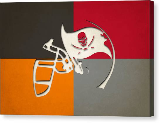 Tampa Bay Buccaneers Canvas Print - Buccaneers Helmet Art 2 by Joe Hamilton