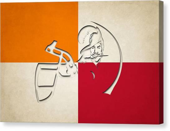 Tampa Bay Buccaneers Canvas Print - Buccaneers Helmet Art by Joe Hamilton