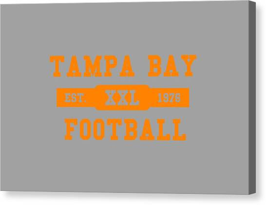 Tampa Bay Buccaneers Canvas Print - Buccaneers Retro Shirt by Joe Hamilton