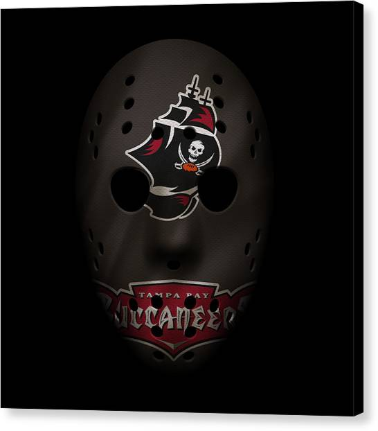 Tampa Bay Buccaneers Canvas Print - Buccaneers War Mask 2 by Joe Hamilton