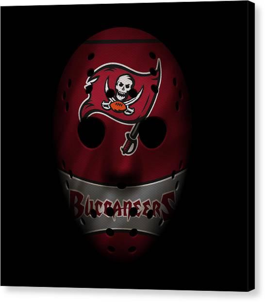 Tampa Bay Buccaneers Canvas Print - Buccaneers War Mask 4 by Joe Hamilton