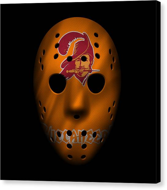 Tampa Bay Buccaneers Canvas Print - Buccaneers War Mask by Joe Hamilton