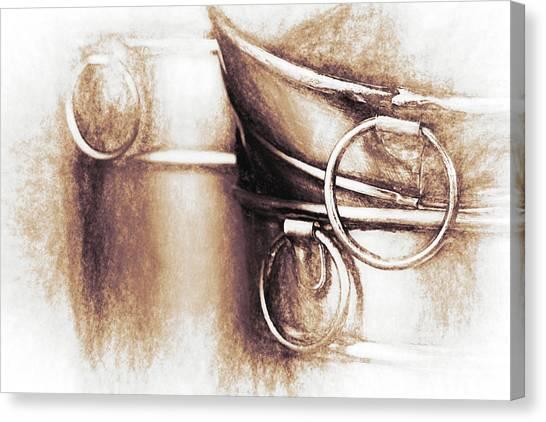 Tubs Canvas Print - Bucket Art by Tom Mc Nemar