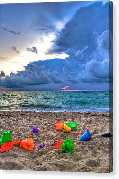 Buckets Of Sand Canvas Print