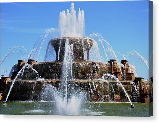 Buckingham Fountain 2 Canvas Print
