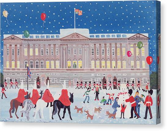 Royal Guard Canvas Print - Buckingham Palace by Judy Joel