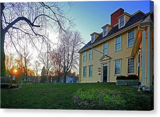 Buckman Tavern At Sunset Canvas Print