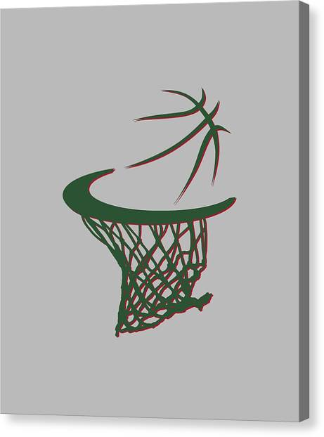 Milwaukee Bucks Canvas Print - Bucks Basketball Hoop by Joe Hamilton