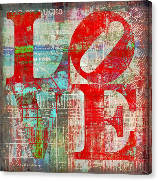 Philly Canvas Print - Bucks County Love by Brandi Fitzgerald