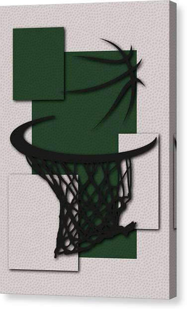 Milwaukee Bucks Canvas Print - Bucks Hoop by Joe Hamilton