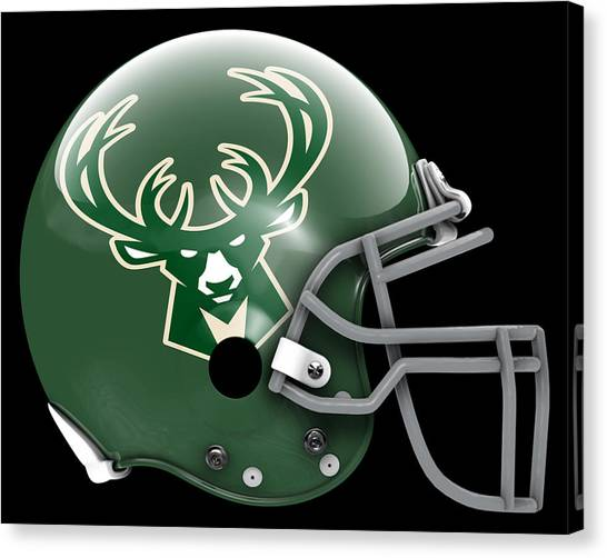 Milwaukee Bucks Canvas Print - Bucks What If Its Football by Joe Hamilton
