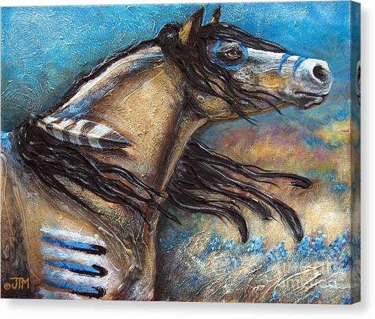Buckskin Bell Blues Canvas Print