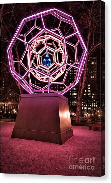 Installation Art Canvas Print - bucky ball Madison square park by John Farnan
