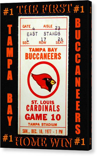 Tampa Bay Buccaneers Canvas Print - Bucs First Home Win by David Lee Thompson