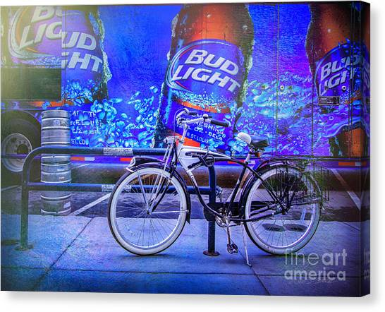 Bud Light Schwinn Bicycle Canvas Print
