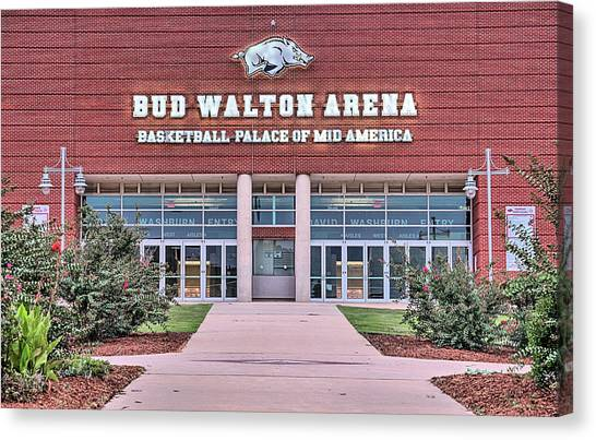 University Of Arkansas University Of Arkansas Canvas Print - Bud Walton Arena by JC Findley