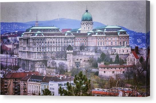 Budapest Canvas Print - Buda Castle From Gellert Hill by Joan Carroll
