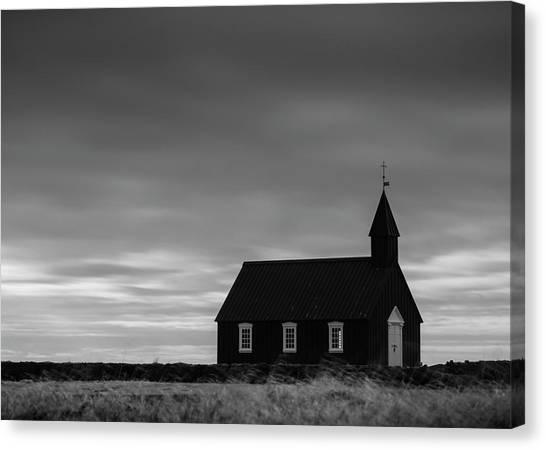 Budakirkja, The Black Church In Iceland Canvas Print