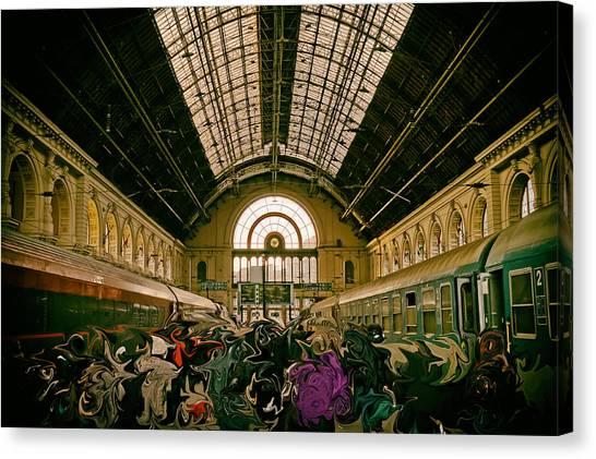 Budapest Keleti Railway Station Canvas Print