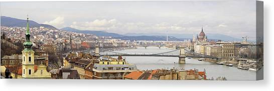 Danube Canvas Print - Budapest by Marc Huebner