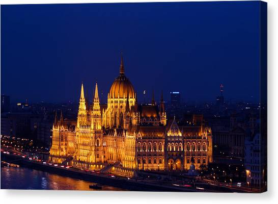 Parliament Canvas Print - Budapest by Matteo Cancian