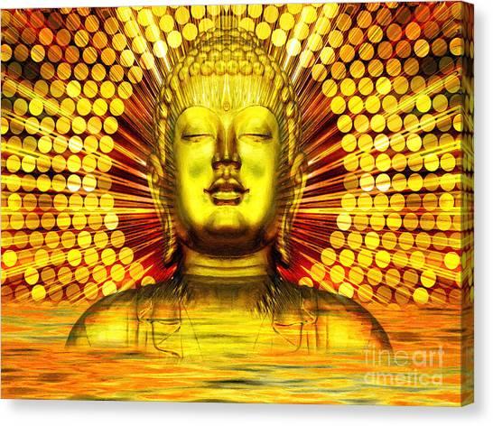 Statue Portrait Canvas Print - Buddha Effulgence by Khalil Houri