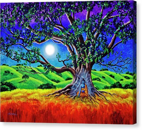 Buddha Healing The Earth Canvas Print