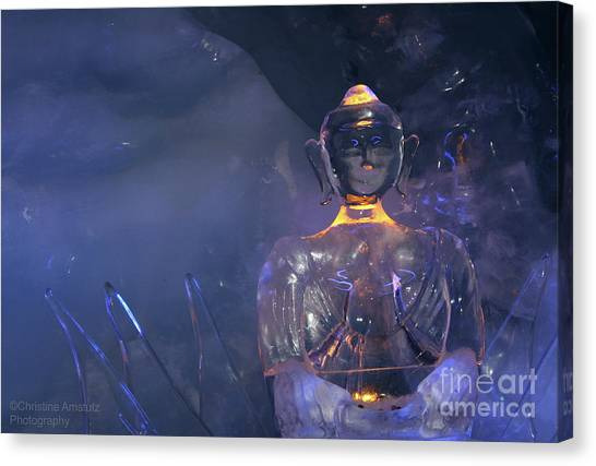Buddha In Ice Canvas Print