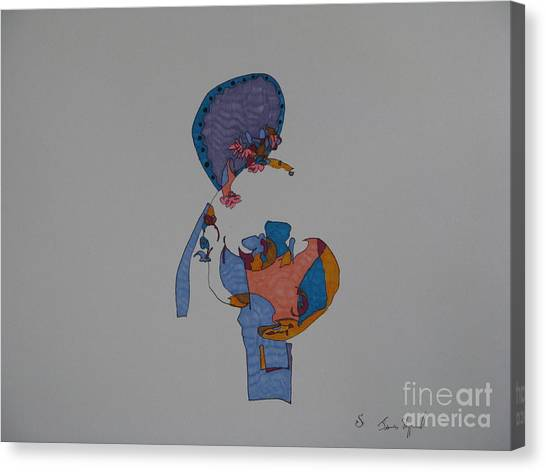 Buddha In The Other Dimension Canvas Print by James SheppardIII
