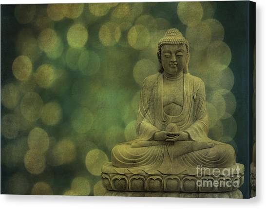 Buddha Light Gold Canvas Print