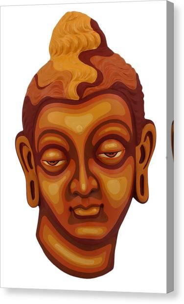 Buddha - Relief-1 Canvas Print