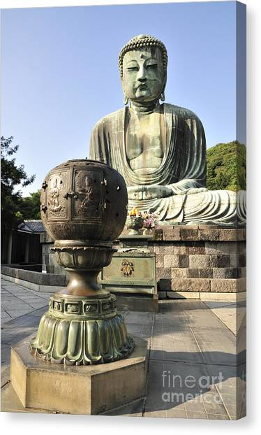 Buddha With Urn Canvas Print by Andy Smy