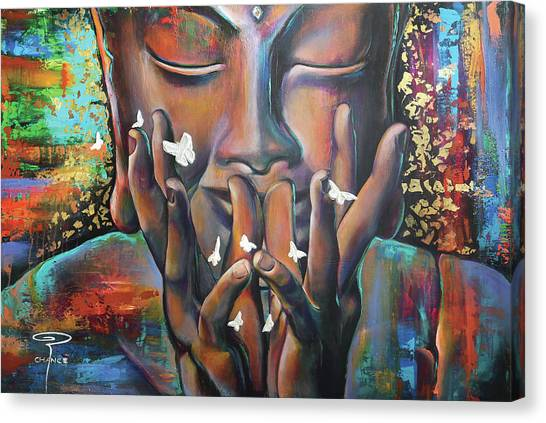 Buddhaflies Canvas Print