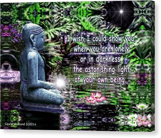 Buddha's Light Canvas Print