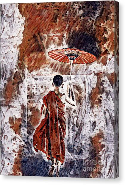 Buddhist Monk Canvas Print