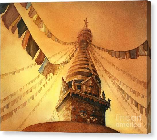 Buddhist Stupa- Nepal Canvas Print