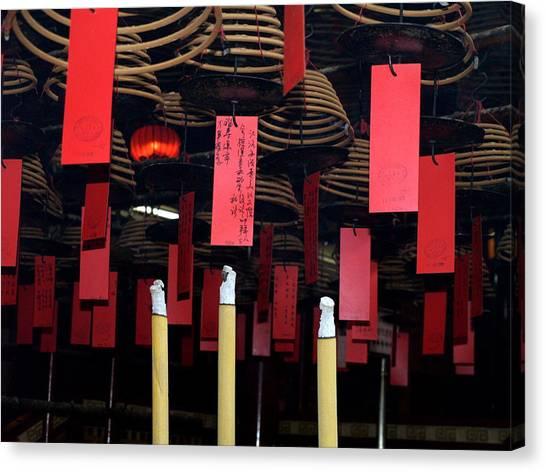 Buddhist Temple Ladder Street 2 Hong Kong Canvas Print