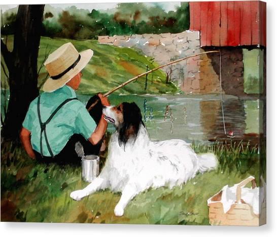 Buddies Canvas Print by Faye Ziegler
