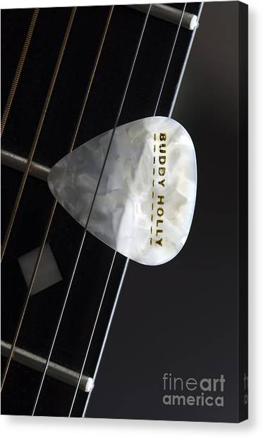 Guitar Picks Canvas Print - Buddy Holly by Bob Christopher