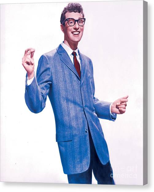 Cricket Canvas Print - Buddy Holly Promotional Photo. by The Titanic Project