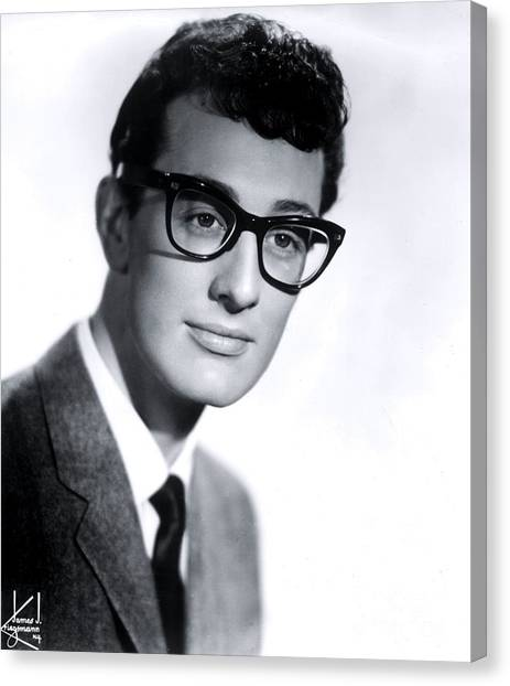 Cricket Canvas Print - Buddy Holly by The Titanic Project