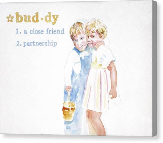 Buddy Canvas Print by Janice Crow