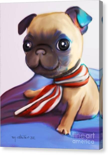 Buddy The Pug Canvas Print