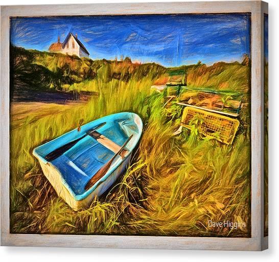 Budks Harbor #1,machiasport, Maine Canvas Print by Dave Higgins