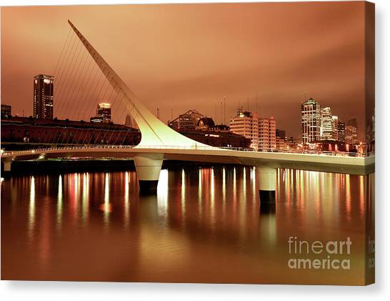 Buenos Aires On Fire Canvas Print