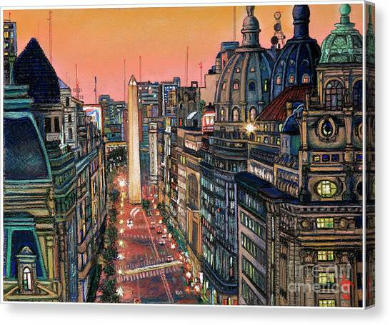 Buenos Aires Twilight Canvas Print